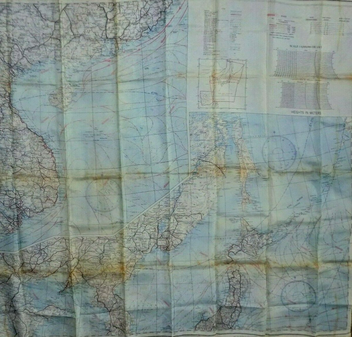 #Antiques #Militaria #Collectables #Jewellery #Auction - #Vintage WWII USAF Issued Pilot Secret Cloth Escape Map Japan + S. China Sea 1945 https://www.ebay.co.uk/itm/123845803424…