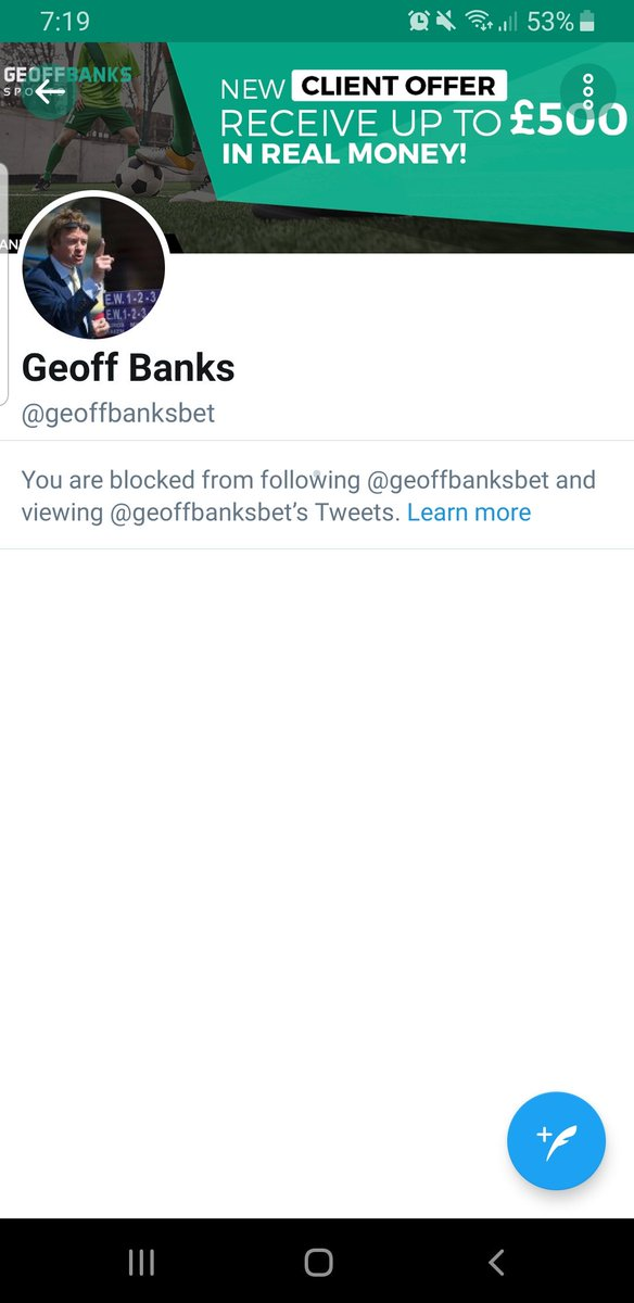 @andy_chop @gondorffhenry @fatwaz @valuemanmatt @BookiesDontLayB @geoffbanksbet Good old Geoff, restricted me to pennies despite my account being in a net loss, and then blocked me on Twitter when I called him out on it, hes the biggest shithouse of the lot, bangs on about how bad the big bookies are, and behaves exactly the same
