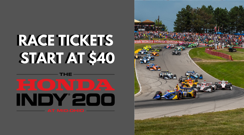 #Honda200 is almost here. Dont miss out on any of the action on and off the track! Get tickets now at midohio.com/tickets