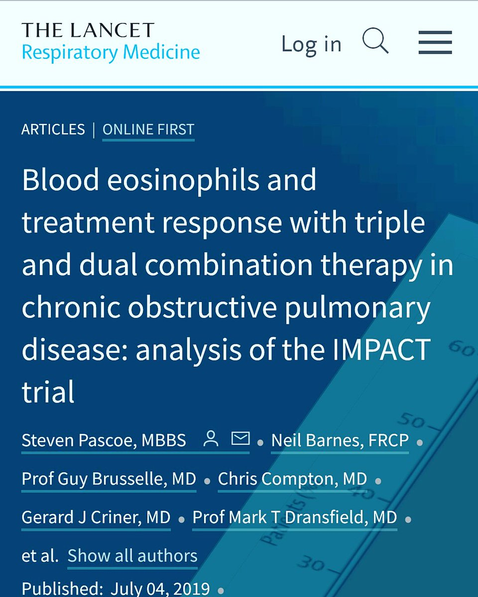 This #analysis of the IMPACT trial shows that assessment of #Blood #eosinophil count and #smoking #status has the potential to optimise ICS use in #Clinical #Practice in #patients with #COPD and a history of #exacerbations