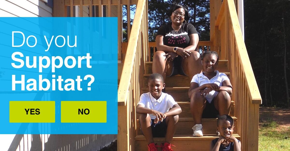 Do you support Habitat for Humanity? Take our official supporter survey today & tell us more about your support of our life-changing work! give.habitat.org/jax-survey