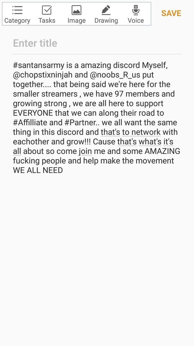 https://discord.gg/gpR9zwT  #SupportSmallStreamers #Smallstreamersconnect #SmallStreamerCommunity #RETWEET #livestream #likeforlike #followmeontwitch #makingbigmovements #letsgoo #Roadtopartner #Pathtoaffiliate
