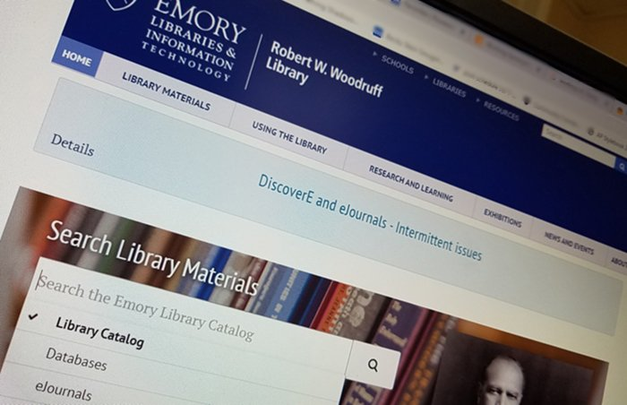 The Emory Libraries' online catalog (discoverE) and ejournals search are functioning intermittently, and our IT dept. is working on the problem. We apologize for the inconvenience. A few tips to try: http://bit.ly/2JKAqNA #Emory