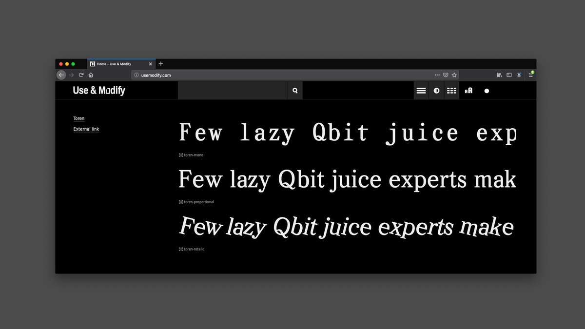 😁Found one of my old fonts on usemodify.com