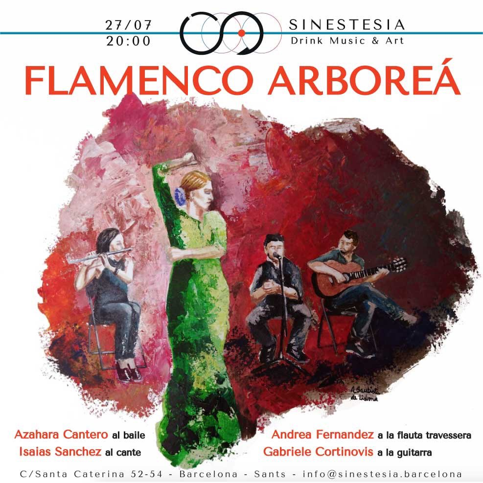 SÁBADO 27/07 - FLAMENCO ARBOREÁ Abertura puertas - 19:30 h  Concierto - 20:00 h https://sinestesia.barcelona/event/flamenco-arborea-0702/… #Flamenco  #Sinestesia #DrinkMusicArt #Barcelona #musica #arte #livemusic #night #live #Sants #SantsEstació #PlaçaDelCentre #PlaçaDeSants
