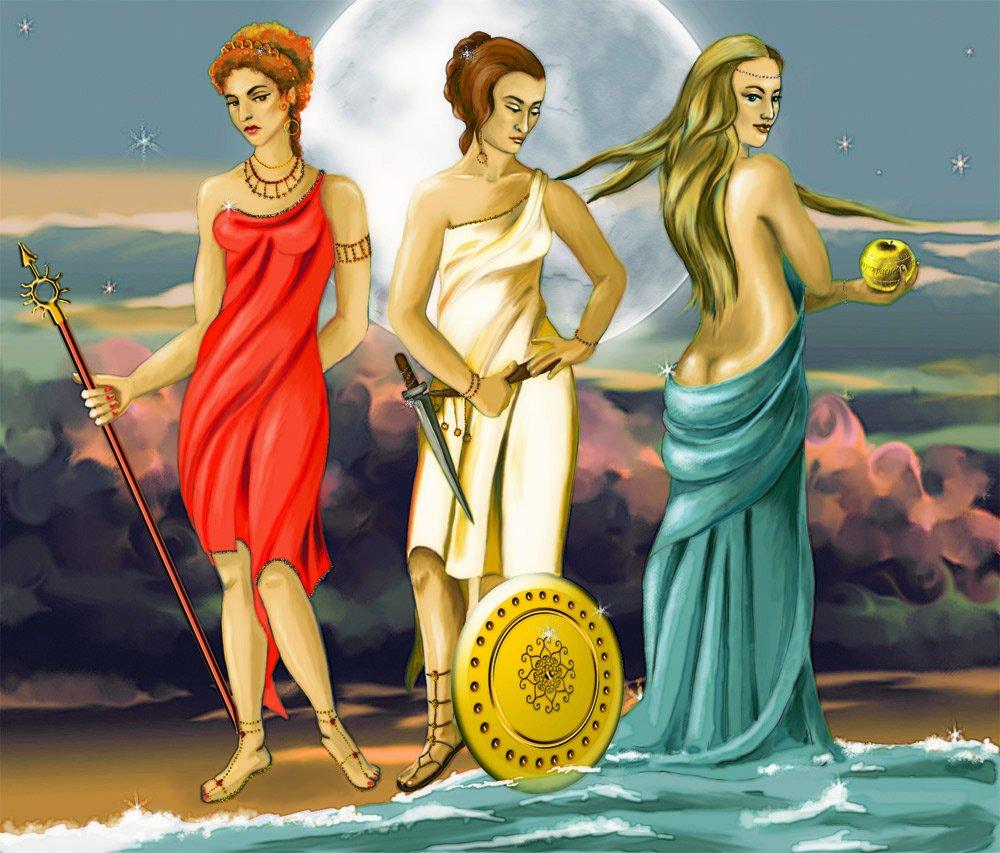 фото всех богинь древней греции стол