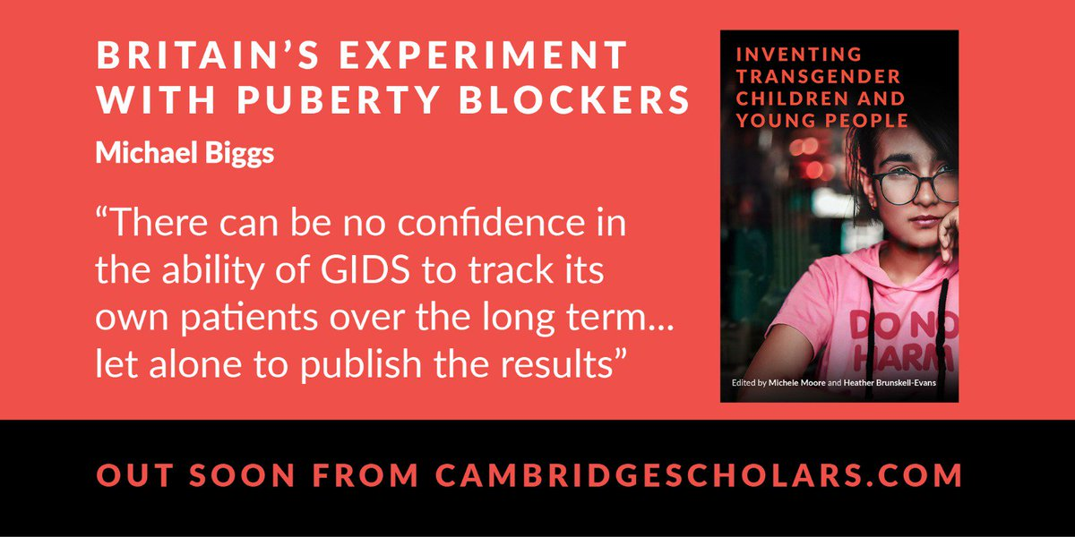 Britain's experiment with puberty blockers is set to be exposed tonight on Newsnight BBC 2 at 10.30 pm. Michael Biggs chapter in our latest book broke the story! <br>http://pic.twitter.com/FV5FLye1oX