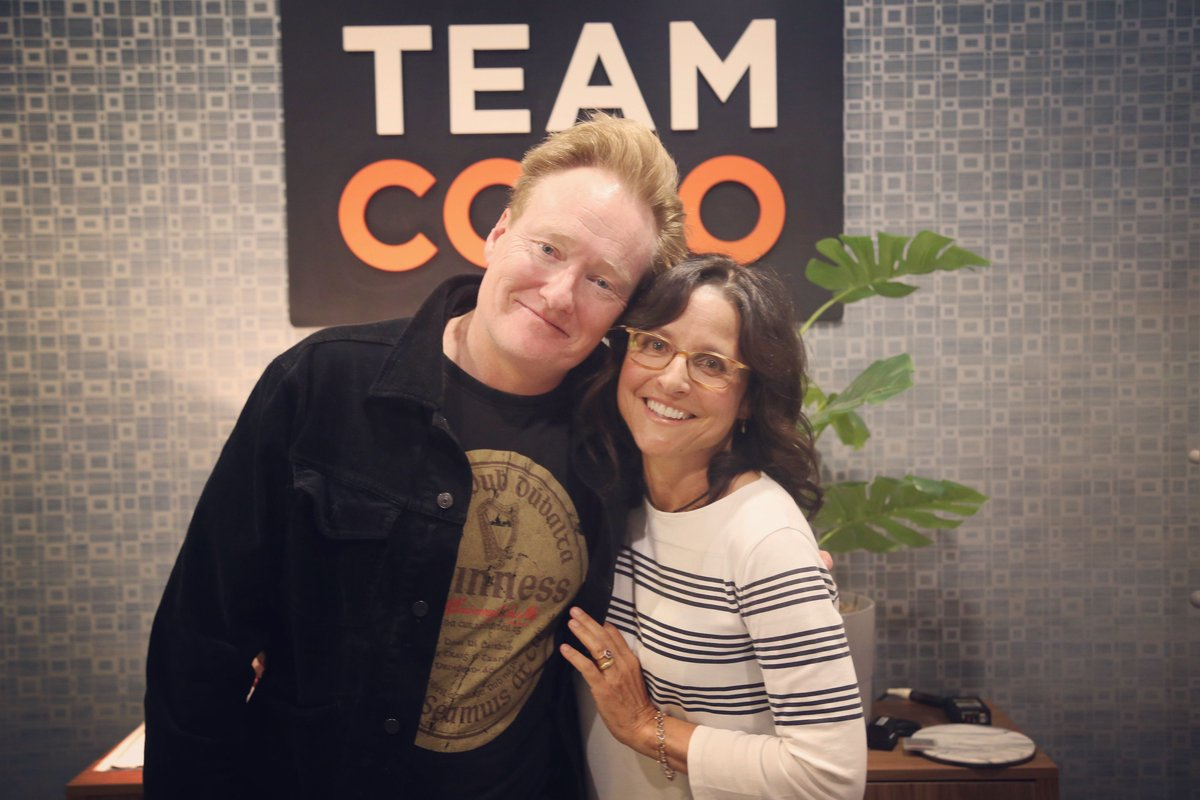 """""""Deeper, unboundedly playful, and free from FCC regulations""""  Catch the season finale of @teamcoco's Conan O'Brien Needs a Friend featuring comedy icon @OfficialJLD: https://stitcherapp.com/2Ob5Ocx"""