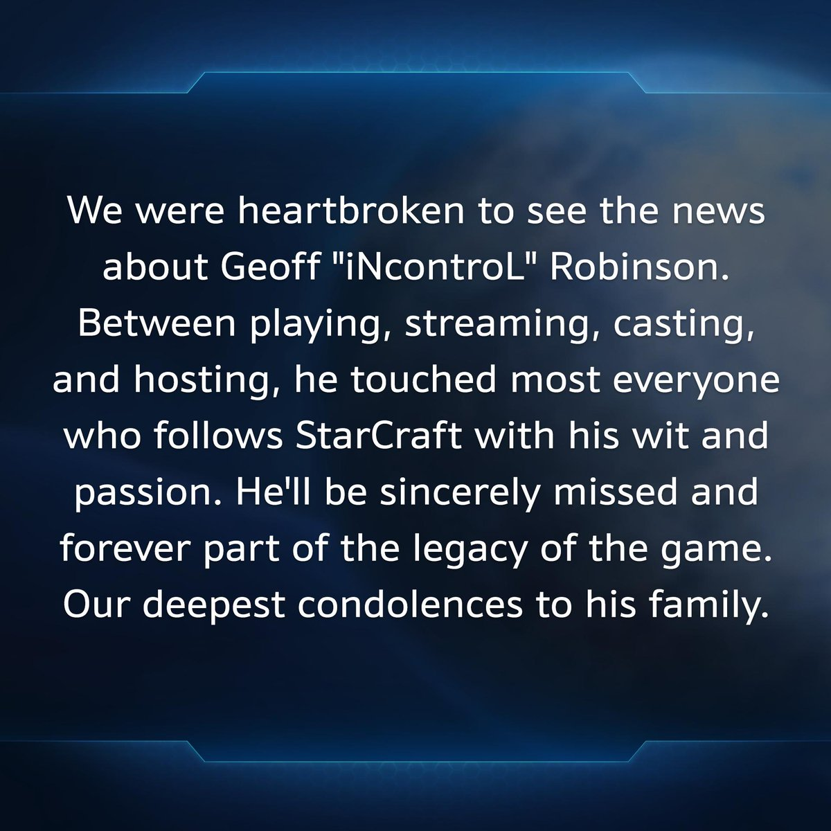 Thank you for everything, Geoff. StarCraft wont be the same without you.