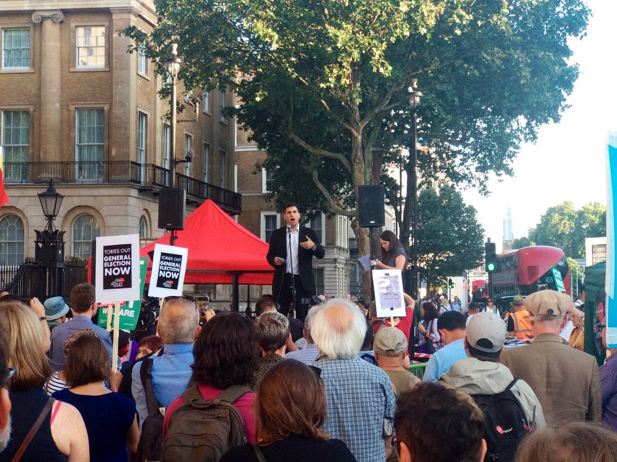 Tonight I told the @pplsassembly demonstration that there are two tasks for our movement this summer: 1. Get Boris Johnson out. 2. Get Jeremy Corbyn in. Let's do this together!