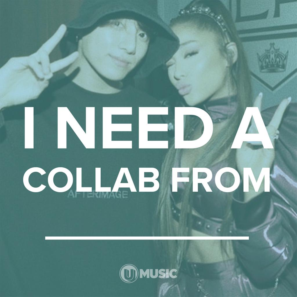 Who do YOU need a collab from?  #ArianaGrande #BTS #Jungkook<br>http://pic.twitter.com/Dgvf2HpSYm