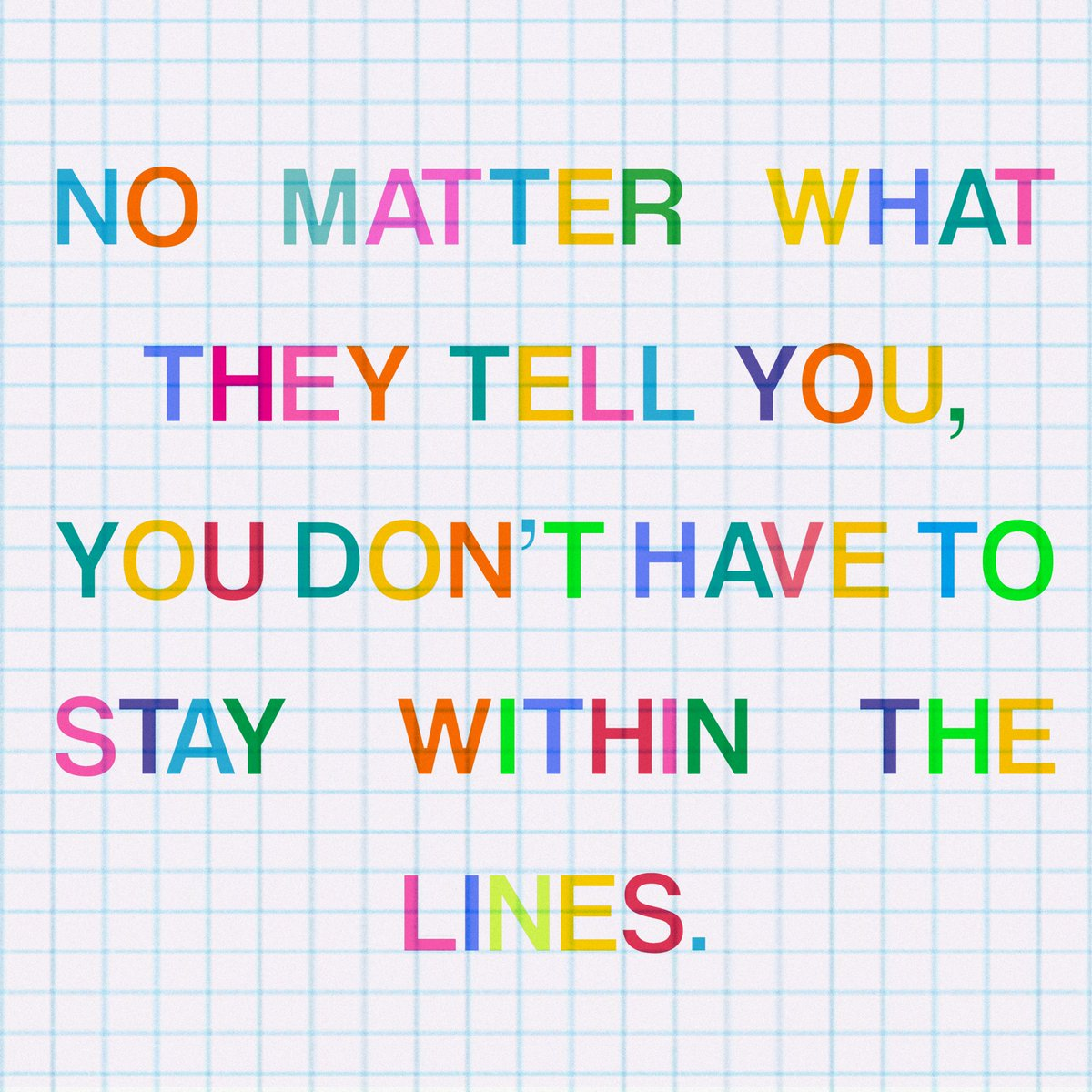 Life's more fun outside the lines 🌈 #MondayMotivation bit.ly/2YiCEMo
