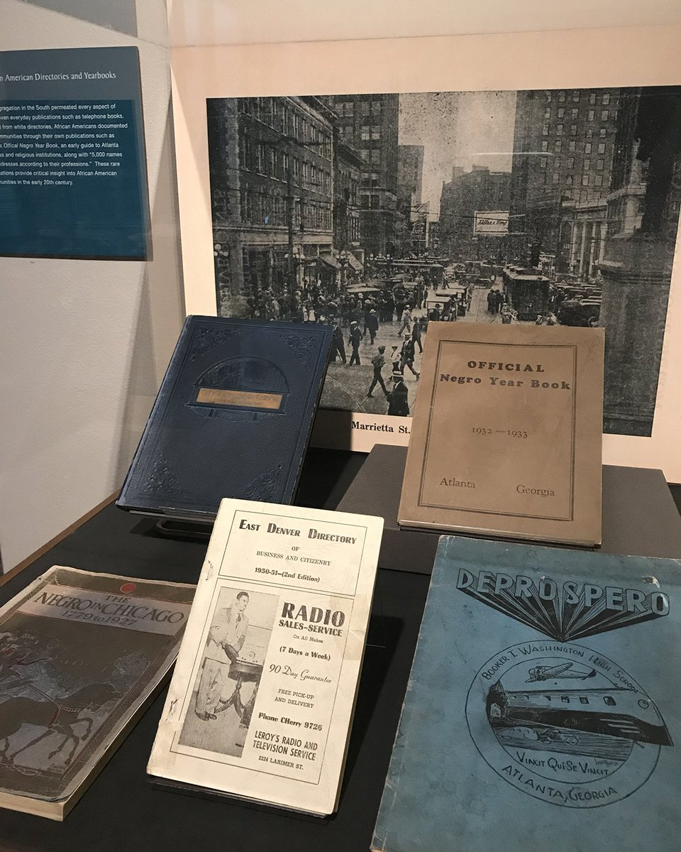 Excluded from white directories, African Americans documented their communities through their own publications such as Atlanta's Official Negro Year Book. Visit the @EmoryRoseMARBL exhibit, Building Emory's African American Collections, before it closes on July 28. #Emory