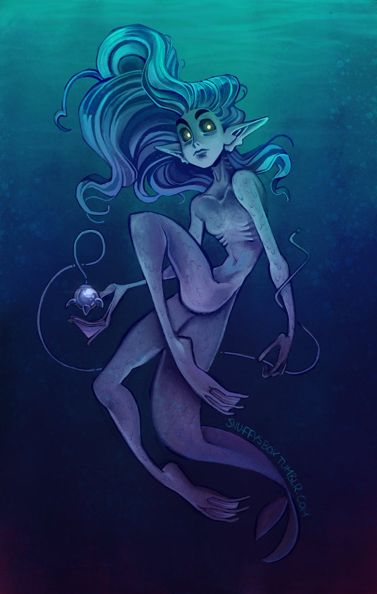 Thought I'd dabble in some not-quite-mermaid art. <br>http://pic.twitter.com/JIpGcdn5qH