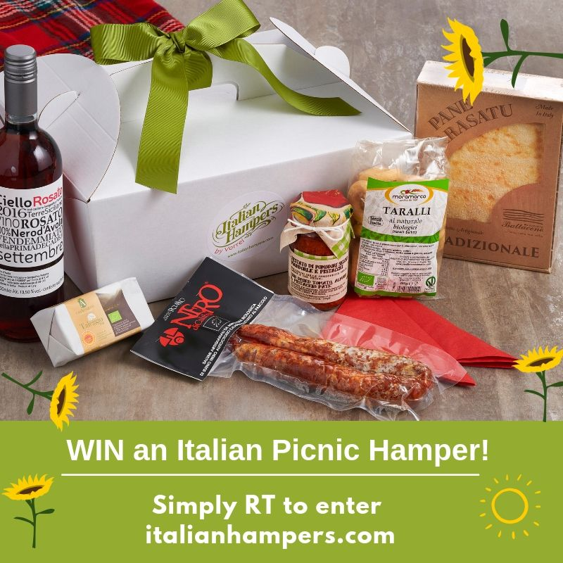 Don't forget to enter our #PrizeDraw if you would like to be in with a chance of #winning this tasty picnic hamper packed with #Italianfood and #organicwine! Enter before the end of this month - just RT this post!  Over 18s only. #Italianhampers<br>http://pic.twitter.com/T0ljG9fV7i