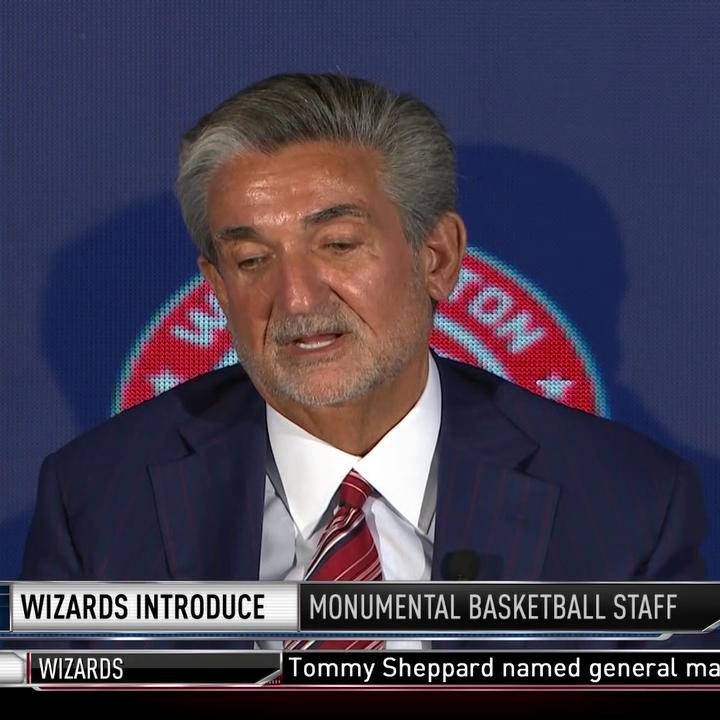 """""""We owe it to the community to build a basketball team as great as the fan base.""""  Ted Leonsis shares the Wizards' goal moving forward."""