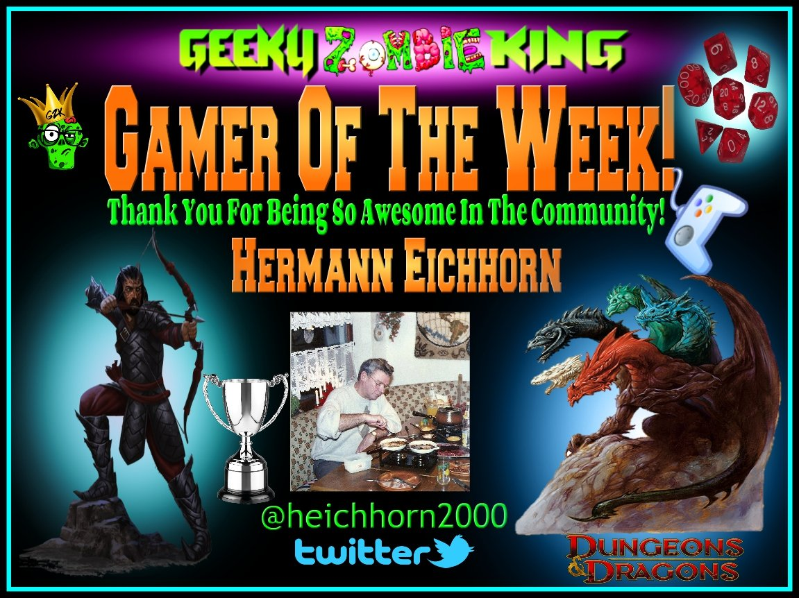 #GamerOfTheWeek goes out to @heichhorn2000 Congrats!! He has been super awesome in the gaming community always showing so much support not just to me! But the entire gaming community and indie game developers! He works as hard as anyone else here on twitter. Thank you my friend! <br>http://pic.twitter.com/2QkNfLzLdf
