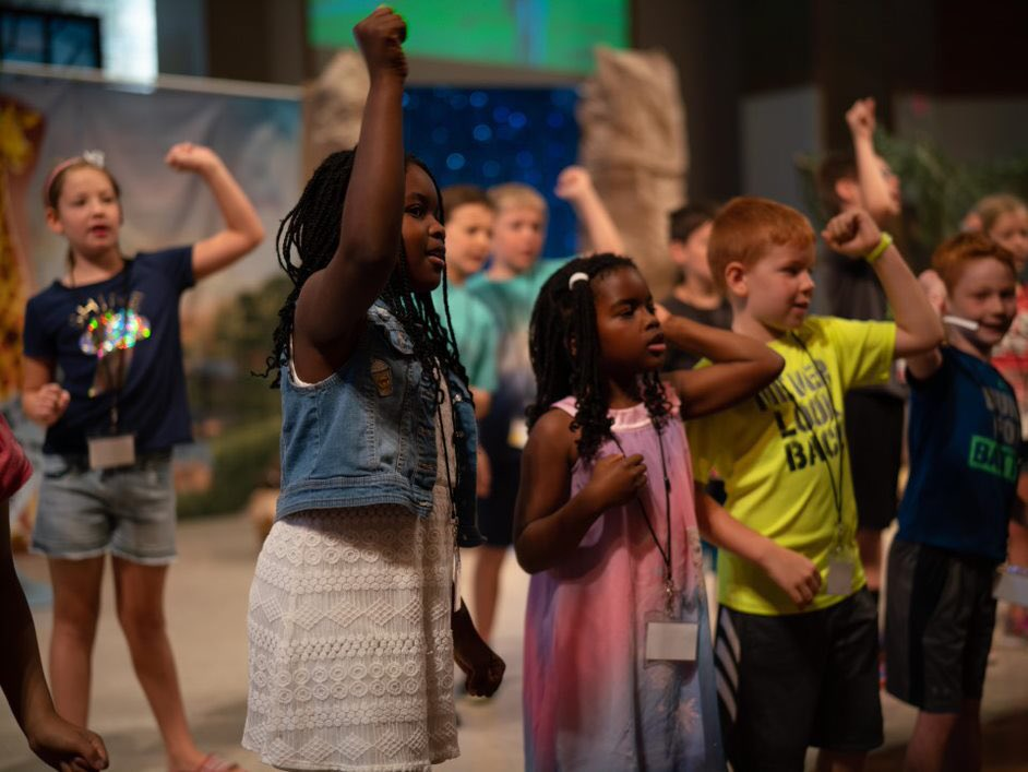 It was a great first day at Vacation Bible School! #asburymadison #roar #groupvbs