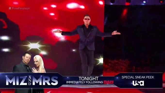 Well, #RawReunion just got awesome...and you can catch a special SNEAK PEEK of @MizAndMrsTV's all-new episodes right after #Raw tonight!  @mikethemiz hosts @WWERollins on #MizTV NEXT!