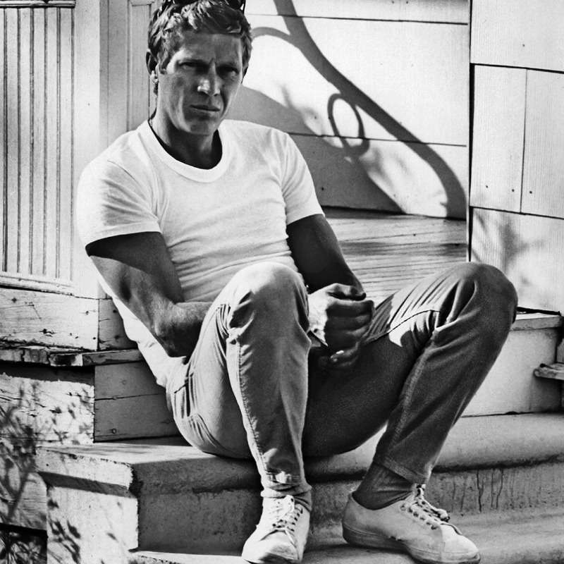 Steve McQueen wearing the hell out of a white t-shirt. #MondayMotivaton<br>http://pic.twitter.com/U5l3u0Bovz