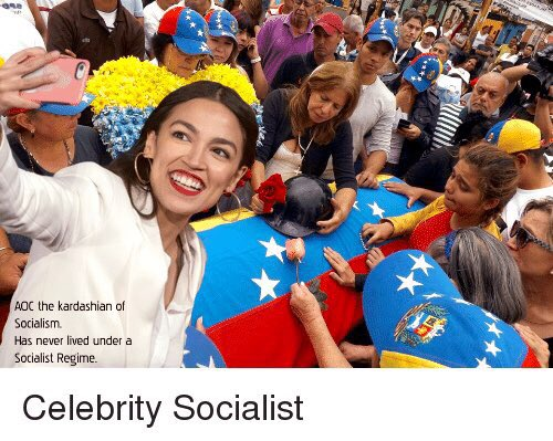 """The left speaks of the empire as """"the bad guy"""" of the movie, those who suffer socialism see in US the flags of Freedom.   A passport does not imply loving the US  Millions of people would give their lives for being Americans and @AOC embrace socialism ignoring its failure."""