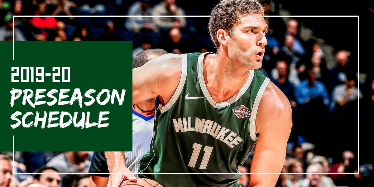 Bucks to tip off 2019 Preseason on October 7th in Chicago. Full Details: on.nba.com/2McwSVQ #FearTheDeer