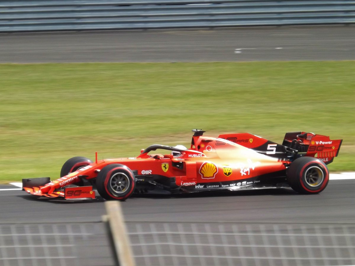 Ferrari photos from Silverstone #Seb5 #BritishGP