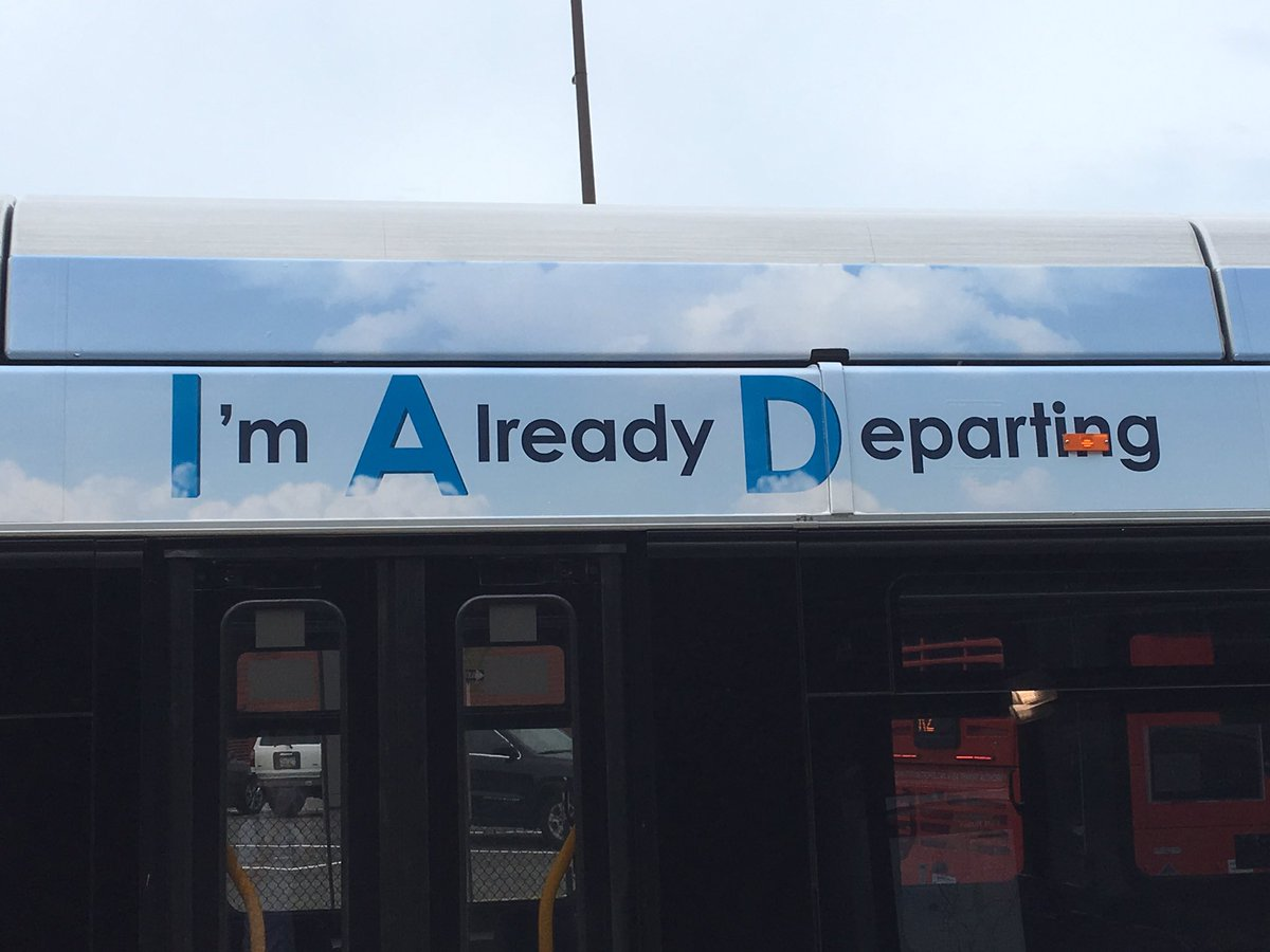 """This new Dulles Airport ad campaign just lends itself to creative alternatives. Like: """"I'm Annoyed, Damn It."""" Or: """"I Appreciate DCA."""" <br>http://pic.twitter.com/Bqf2fCZjrN"""