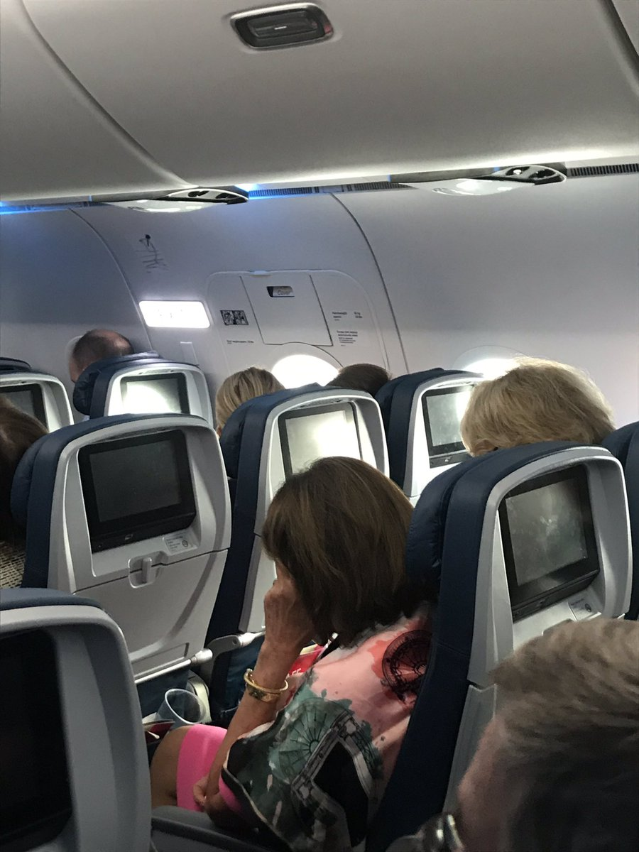 Speaker Pelosi was negotiating the fine print of this budget deal from her aisle seat of a delayed Delta flight from Detroit. She's had the phone pressed to her ear for much of the last three hours. For those wondering, she's in coach. https://twitter.com/realdonaldtrump/status/1153420653938262019…