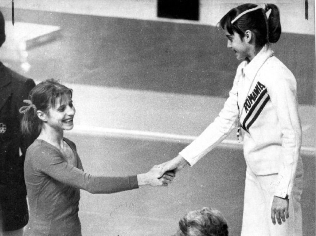 History ...respect ...July 22, 1976, @nadiacomaneci10 and  Olga Korbut