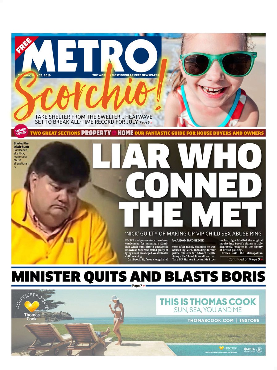 """Tuesday's Metro: """"Liar who conned the Met"""" #BBCPapers #tomorrowspaperstoday (via @Hendopolis)"""