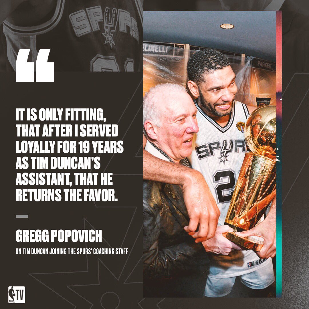 Gregg Popovich and Tim Duncan are reunited. 😂