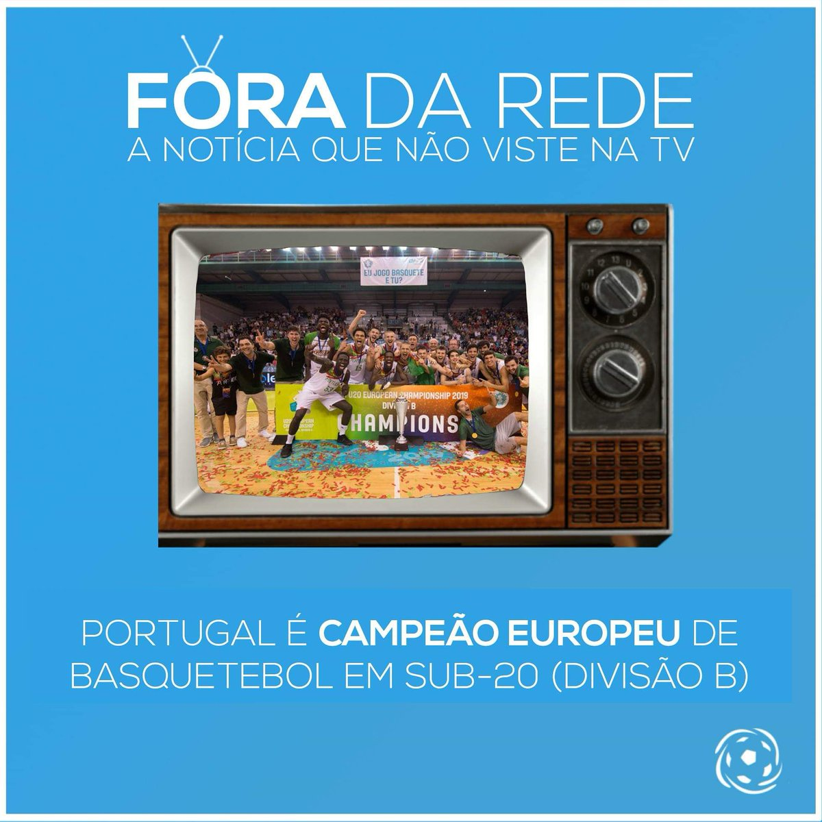 Pela primeira, Portugal é campeão europeu de Sub-20 (divisão B), depois de um triunfo esclarecedor diante da Rep. Checa por 73-57! Parabéns, Portugal! Não vos deixamos #ForaDaRede! 🎉🇵🇹🏀