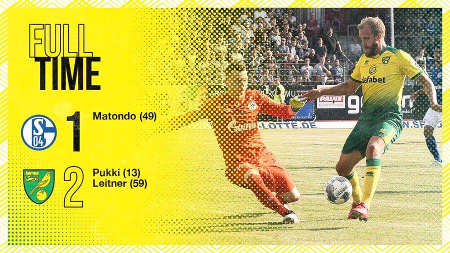 Club Friendly : Schalke 1-2 Norwich City   ⚽️ : Pukki , Leitner 🅰️ : Pukki , Roberts  Highlights Video & More #FPL_PreSeason Results ➡️ http://bit.ly/2Y07R6D  #FPL #NOR <Admin #H17>