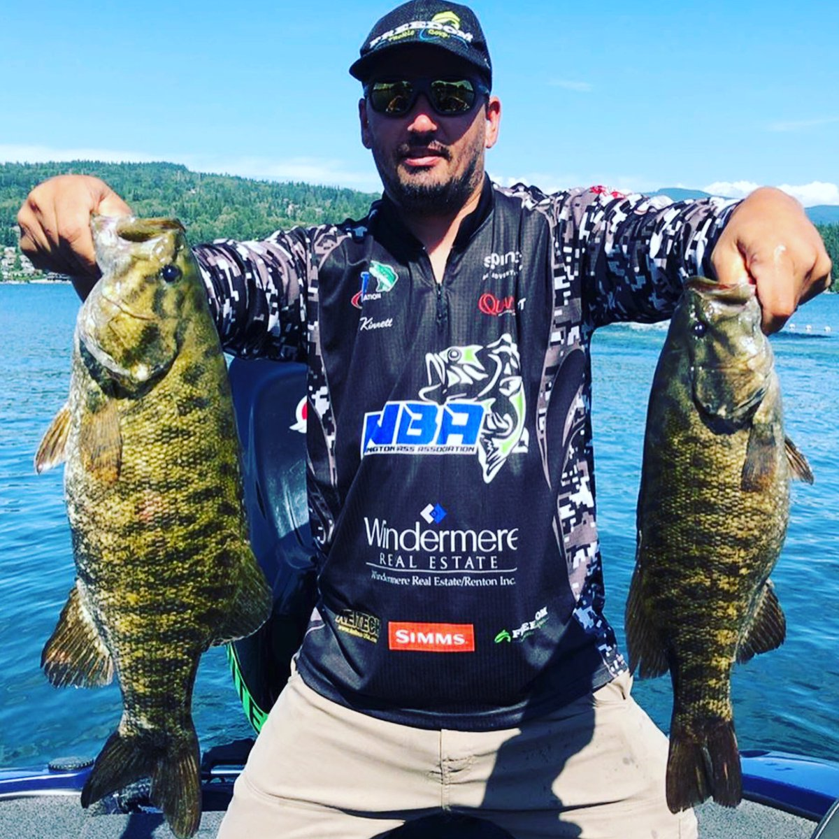 @zethkinnettfishing out on Whatcom fishing the @americanbass Team event with @bassnotti. 3rd Place. Fish On & Keep Dreaming! #ftc #howdoyouswing #fishing #fish #lure #outdoors #freedomtackle #ftc #boating #bassboat #freedomtackle #bassfishing #catchandrelease #largemouth