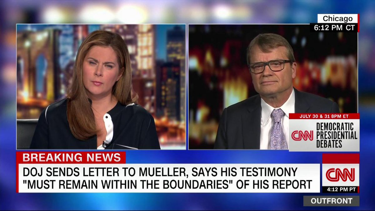 """This isn't the first witness they have attempted to intimidate,"" says Democratic Rep. Mike Quigley about the Justice Department sending a letter to former special counsel Robert Mueller, warning him to ""remain within the boundaries."" http://cnn.it/2Y37ARy"
