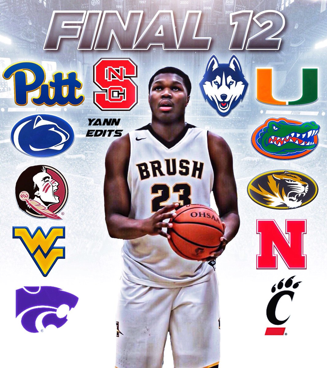 Blessed and highly favored. First I would like to thank god, my family and all my coaches who have helped me along the way. Thanks to all of the schools who have recruited me💯 With that being said here is my top 12..💯🙏🏾 ONLY THE BEGINNING ‼️