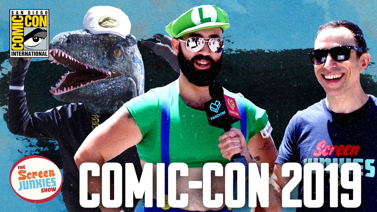 We sent @halrudnick to meet every cosplayer at #SDCC in the newest #ScreenJunkiesShow   ➡️http://youtu.be/xPKFR489W_A