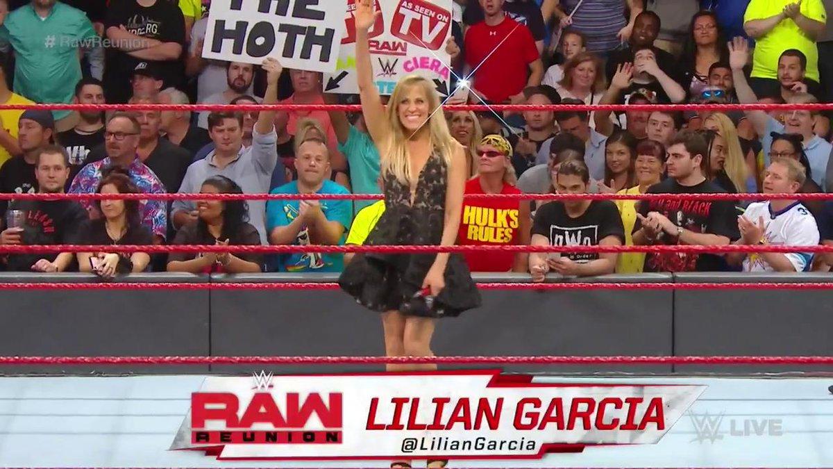 👀 LEGENDS EVERYWHERE.Welcome back to #Raw, @LilianGarcia & @Christian4Peeps! #RawReunion