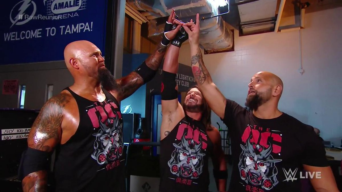 Original. Official. ONLY Club that matters...#RawReunion @AJStylesOrg @LukeGallowsWWE @KarlAndersonWWE