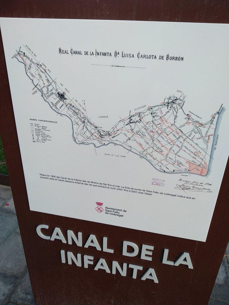 El recorregut de l'aigua del Canal de la Infanta per les diferents poblacions  1819-2019  #molinsderei #santfeliu #santjoandespi #cornella #LHospitalet  #sants #BCN   #baixllobregat  #patrimoniSF