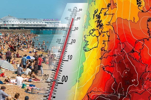 Brits set for hottest day EVER as African plume sends temperatures soaring to almost 40C dailystar.co.uk/news/latest-ne…