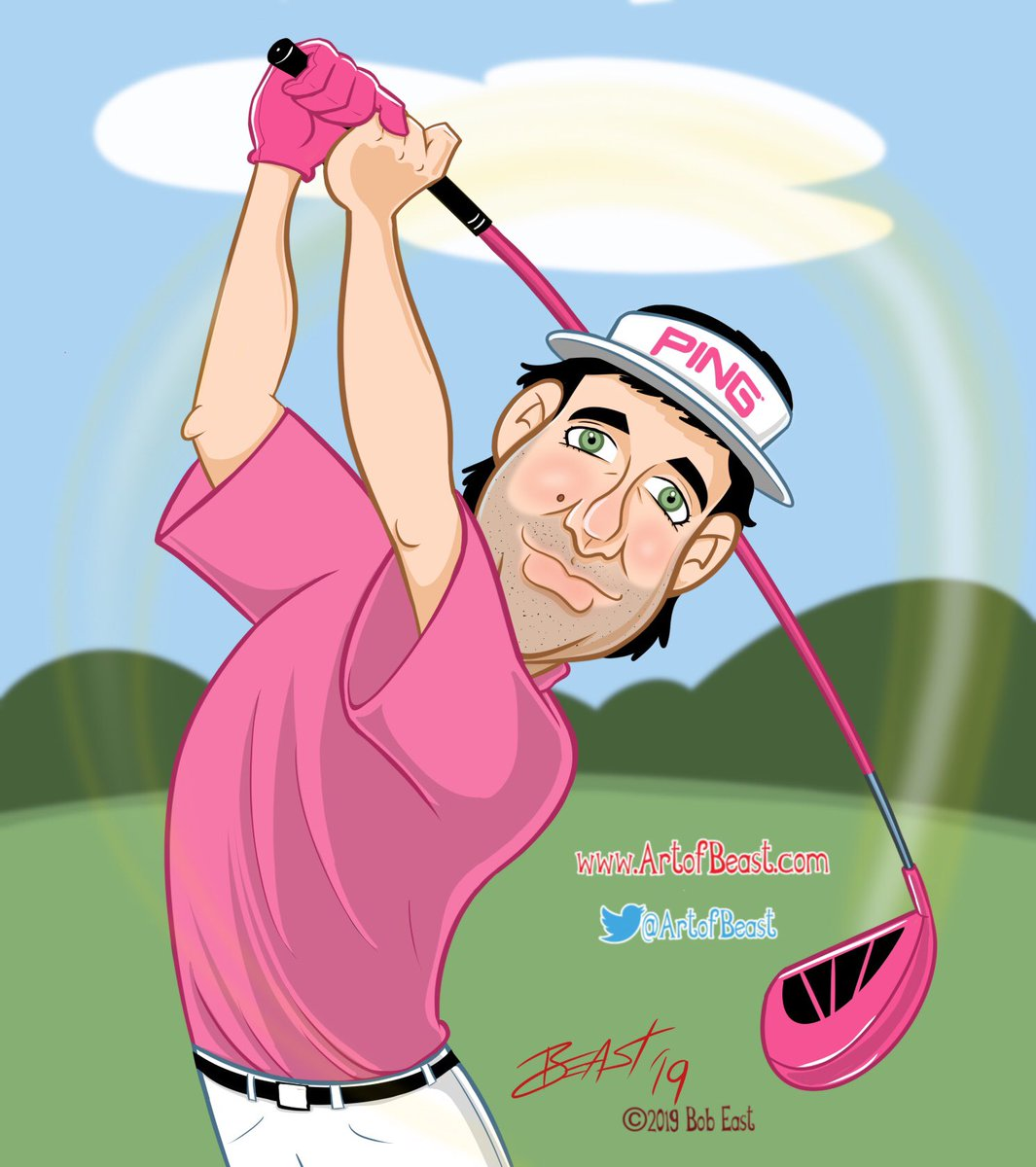 Bubba Watson caricature. @bubbawatson @PGATOUR @TheMasters #golf #caricature https://t.co/enjpuwhJby