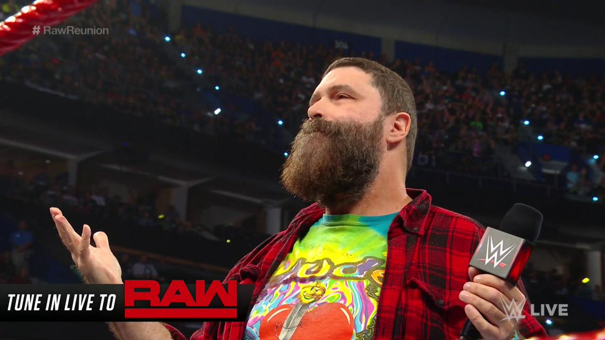This was fucking awesome! Seeing Bray Wyatt use the mandible claw on Mick Foley was badass. #WWE #RAWReunion