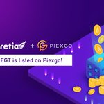 Image for the Tweet beginning: EGT is available on @Piexgo!