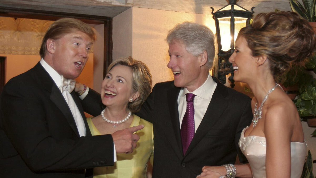 Remember Donald Trump and the Clintons are friends.