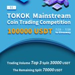 Image for the Tweet beginning: TOKOK  Mainstream Coin Trading