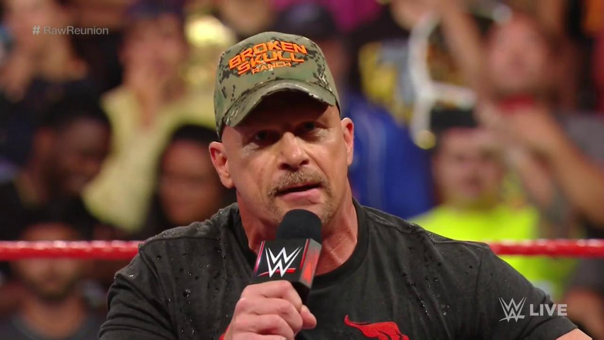 We're just one big, happy family in the @WWEUniverse!#RawReunion @steveaustinBSR