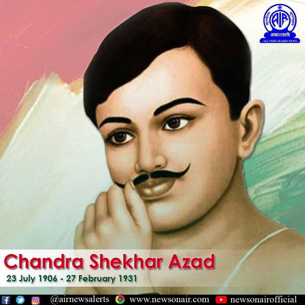 Nation pays tributes to #ChandraShekharAzad on his birth anniversary. He will always be remembered for his sacrifices and enormous contribution towards India's freedom struggle. <br>http://pic.twitter.com/iwN8dOzrID