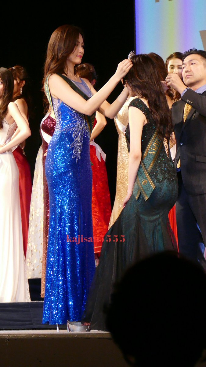 At the end of the coronation night, the 20-year-old university student Yuka with the height of 172cm was crowned by Mio Tanaka Miss Earth Japan 2018 adjudged as the top18 of the Miss Earth 2018 international pageant. #田中美緒 #伊徳有加 #missearth #ミスアースジャパン